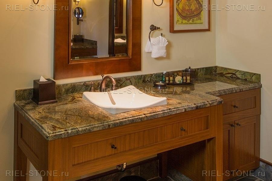 Столешница из натурального камня для ванной